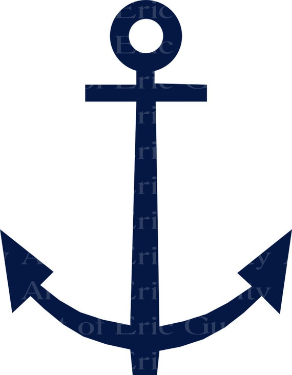 Navy Sailing Anchor Birthday - Edible Cake and Cupcake Topper For Birthday's and Parties! - D22979