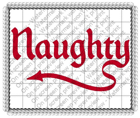 Naughty Devil Christmas ~ Edible 2D Fondant Birthday Cake/Cupcake Topper ~ D19184