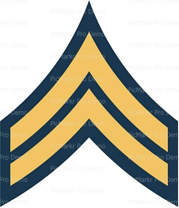 Army Corporal Military Insignia Birthday ~ Edible 2D Fondant Birthday Cake/Cupcake Topper ~ D20495