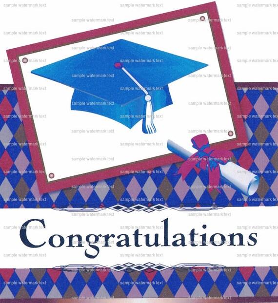 Congratulations Graduate Cap ~ Edible 2D Fondant Birthday Cake/Cupcake Topper ~ D2230