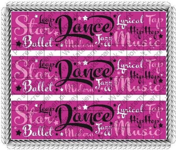 Dance - Side Strips ~ Edible 2D Fondant Birthday Cake Side Toppers ~ D105