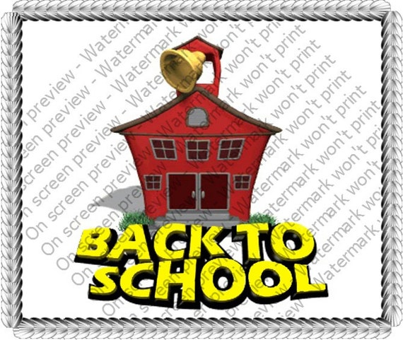 Back To School Birthday ~ Edible 2D Fondant Birthday Cake/Cupcake Topper ~ D6785
