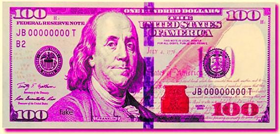 Pink 100 Dollar Bill Casino Las Vegas Birthday ~ Edible 2D Fondant Birthday Cake/Cupcake Topper ~ D24669