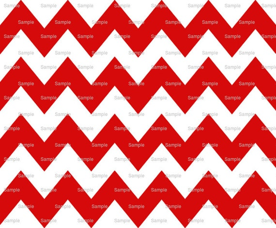 Red - Chevron Background Birthday - Edible Cake and Cupcake Topper For Birthday's and Parties! - D6336