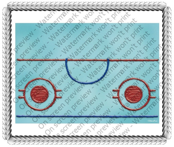 Hockey Rink Birthday - Edible Cake and Cupcake Topper For Birthday's and Parties! - D20454