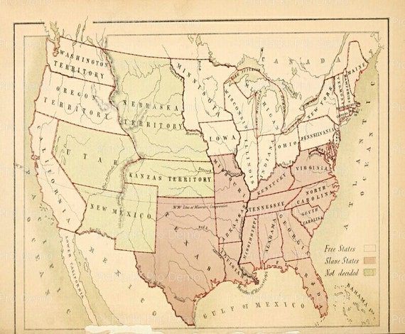 United States Antique Map ~ Edible 2D Fondant Birthday Cake/Cupcake Topper ~ D5108
