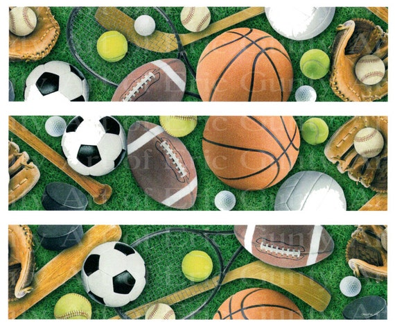 Sports - Birthday Background - Side Strips - Edible Cake Side Toppers- Decorate The Sides of Your Cake! - D22209