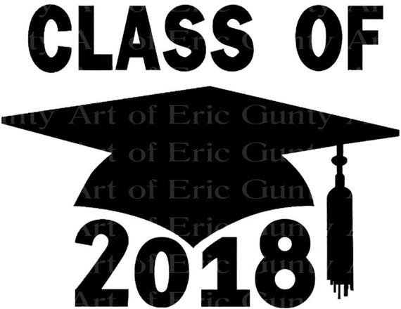 Class of 2018 Cap Graduation - Edible Cake and Cupcake Topper For Birthday's and Parties! - D22807