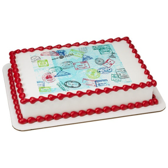 Passport Graduation Birthday - Edible Cake and Cupcake Topper For Birthday's and Parties! - D24093