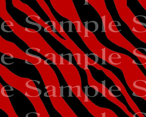 Black & Red Zebra Print Birthday ~ Edible 2D Fondant Birthday Cake/Cupcake Topper ~ D24491
