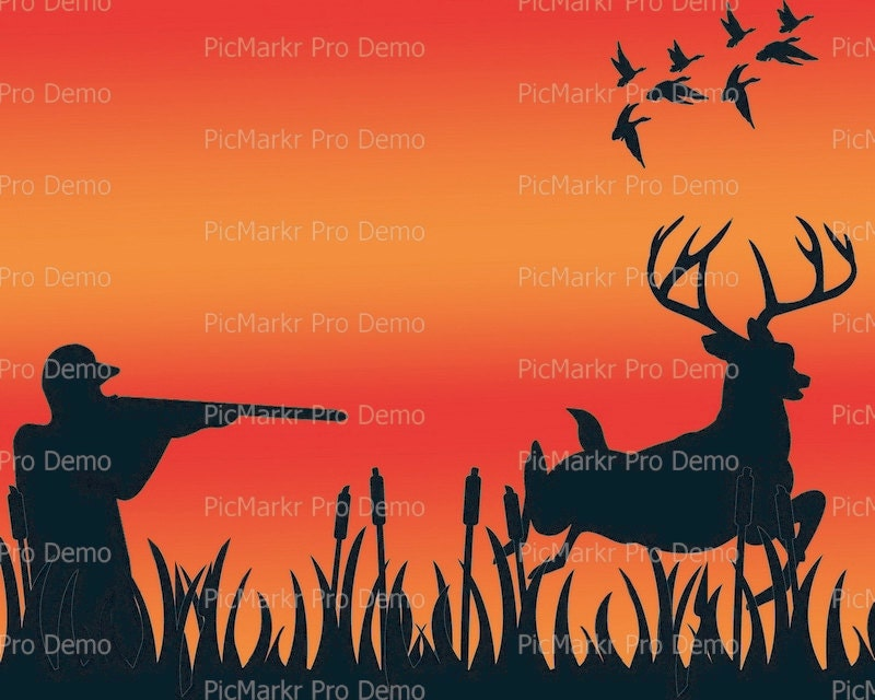 Deer Duck Hunting Birthday Topper