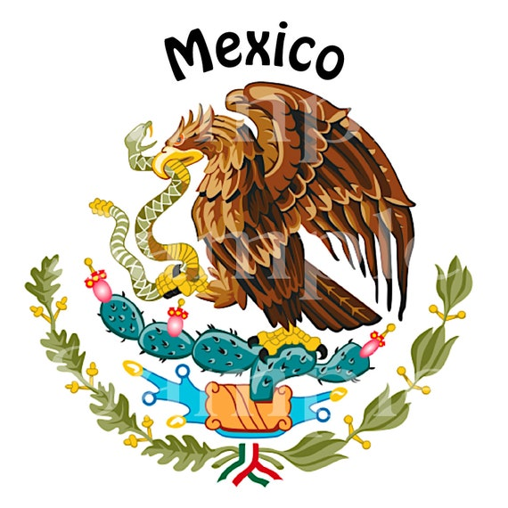 Mexico Eagle Birthday ~ Edible 2D Fondant Birthday Cake/Cupcake Topper ~ D24499