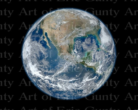 Planet Earth From Space Birthday - Edible Cake and Cupcake Topper For Birthdays and Parties! - D24017