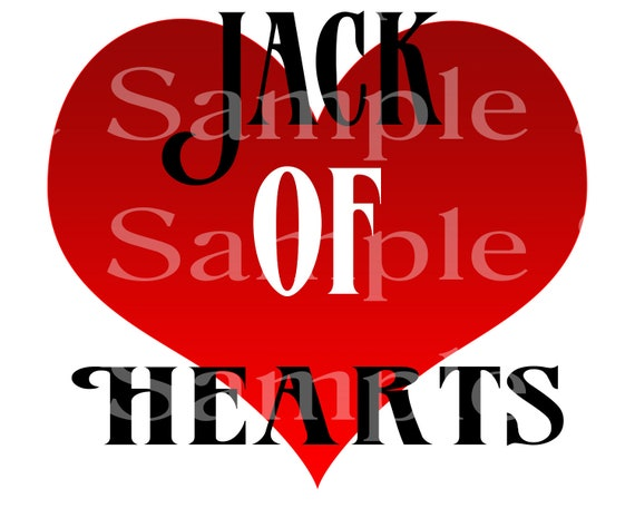 Jack of Hearts Las Vegas Casino Poker  Birthday ~ Edible 2D Fondant Birthday Cake/Cupcake Topper ~ D21945