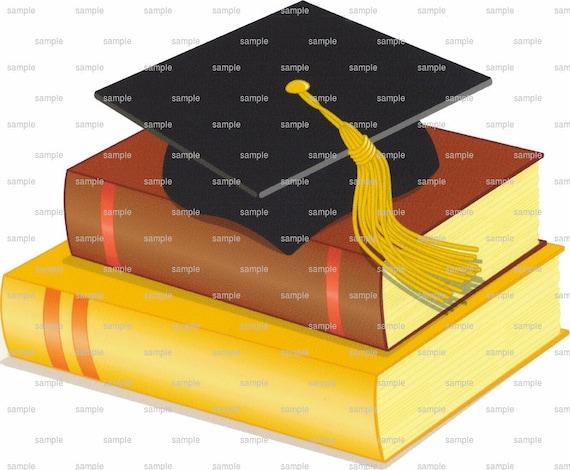 Graduation Cap & Books ~ Edible 2D Fondant Birthday Cake/Cupcake Topper ~ D1091