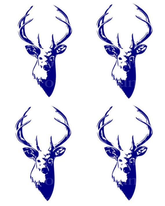 Blue Deer Hunting Birthday - Edible Cake and Cupcake Topper For Birthday's and Parties! - D24050