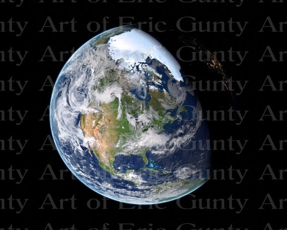 Earth From Space Birthday ~ Edible 2D Fondant Birthday Cake/Cupcake Topper ~ D24019