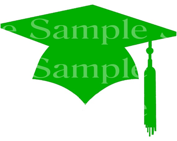 Green Graduation Cap Party ~ Edible 2D Fondant Birthday Cake/Cupcake Topper ~ D24584