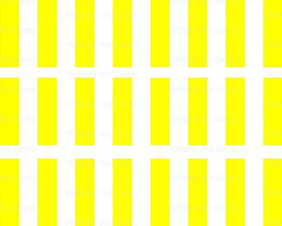 Vertical Yellow & White Stripes Birthday Background - Side Strips - Edible Cake Side Toppers- Decorate The Sides of Your Cake! - D21374