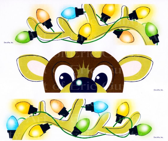 Christmas Reindeer - Birthday Background - Designer Strips - Edible Cake Side Toppers- Decorate The Sides of Your Cake! - D22557