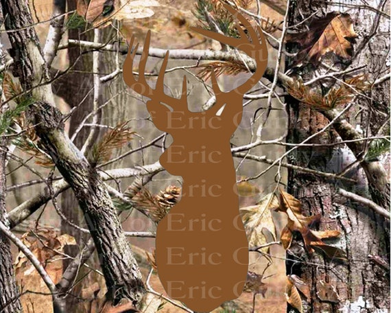 Deer Head Camo Birthday - Edible Cake and Cupcake Topper For Birthday's and Parties! - D22159