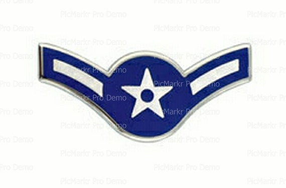 Air Force Airman Insignia Birthday - Edible Cake and Cupcake Topper For Birthday's and Parties! - D20442