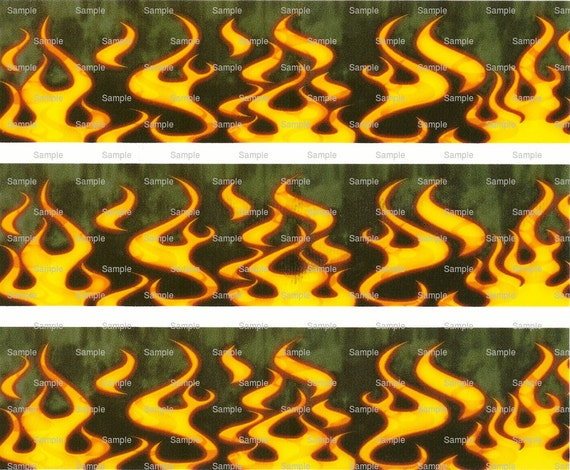 Flames - Birthday Background - Side Strips - Edible Cake Side Toppers- Decorate The Sides of Your Cake! - D717