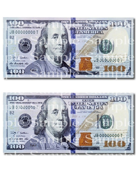 100 Dollar Bill Casino Las Vegas Birthday - Edible Cake and Cupcake Topper For Birthdays and Parties! - D24313