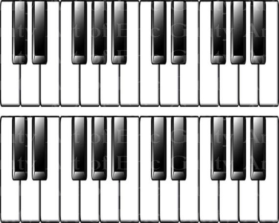 Piano Keyboard Music Band Birthday ~ Edible 2D Fondant Birthday Cake Side Toppers ~ D22846