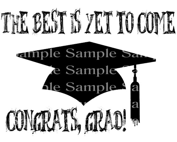 The Best Is Yet to Come Graduation Cap - 2D Fondant Edible Cake & Cupcake Topper For Birthdays and Parties! - D24293