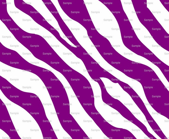Purple Zebra Print - Background Birthday - Edible Cake and Cupcake Topper For Birthday's and Parties! - D9787