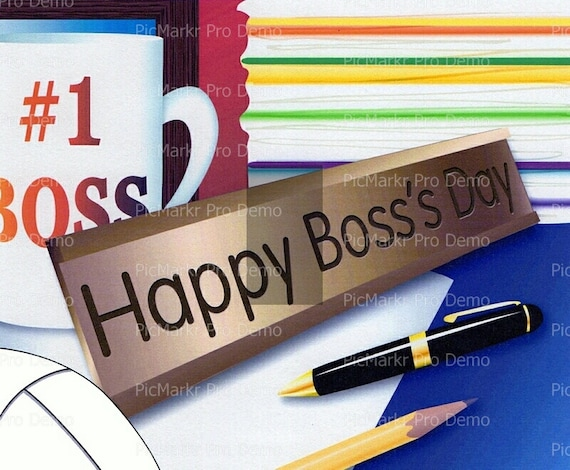 Happy Boss's Day - Edible Cake and Cupcake Topper For Birthday's and Parties! - D2247