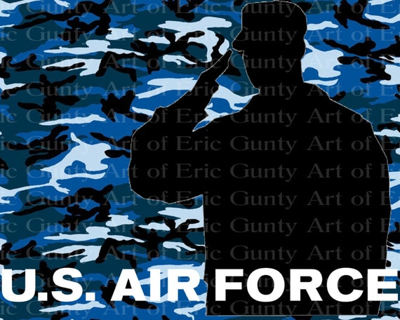U.S. Air Force Military Camo Birthday ~ Edible 2D Fondant Birthday Cake/Cupcake Topper ~ D21933