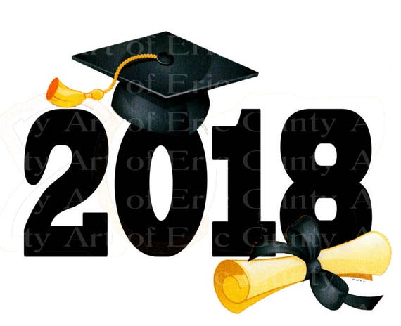 Class of 2018 Graduation Cap - Edible Cake and Cupcake Topper For Birthday's and Parties! - D22813