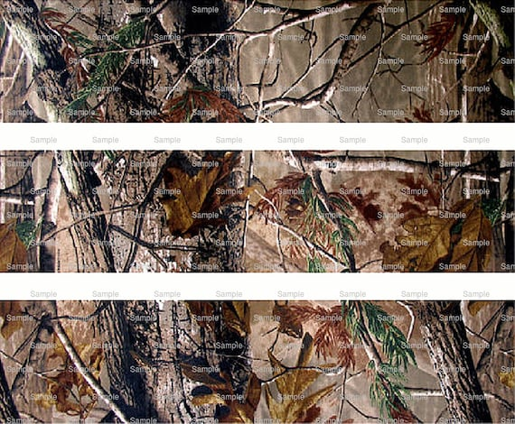 Woodland Camo - Birthday Background - Side Strips ~ Edible 2D Fondant Birthday Cake Side Toppers ~ D5446