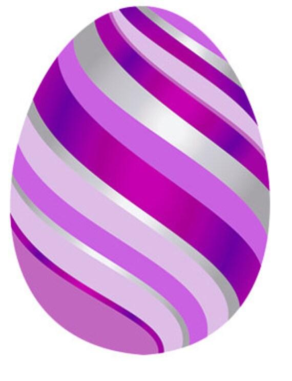 Purple Easter Egg Birthday ~ Edible 2D Fondant Birthday Cake/Cupcake Topper ~ D24681
