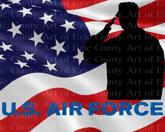 U.S. Air Force Military Flag Birthday ~ Edible 2D Fondant Birthday Cake/Cupcake Topper ~ D21930