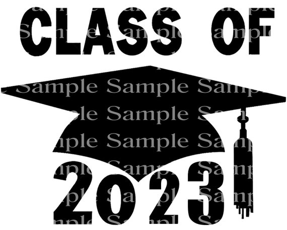 Class of 2023 Black Graduation Cap - 2D Fondant Edible Cake & Cupcake Topper For Birthdays and Parties! - D24280