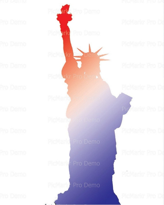 Statue of Liberty Birthday ~ Edible 2D Fondant Birthday Cake/Cupcake Topper ~ D21745