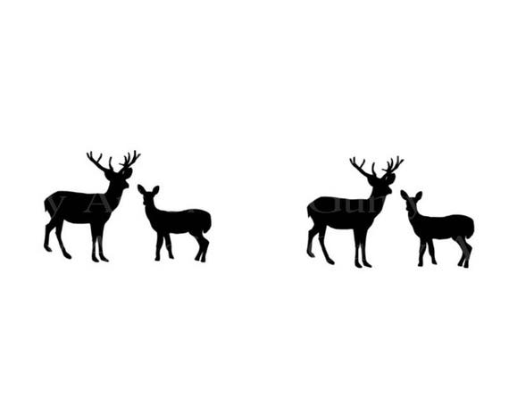 Grazing Deer Hunting Silhouette Birthday ~ Edible 2D Fondant Birthday Cake/Cupcake Topper ~ D22970