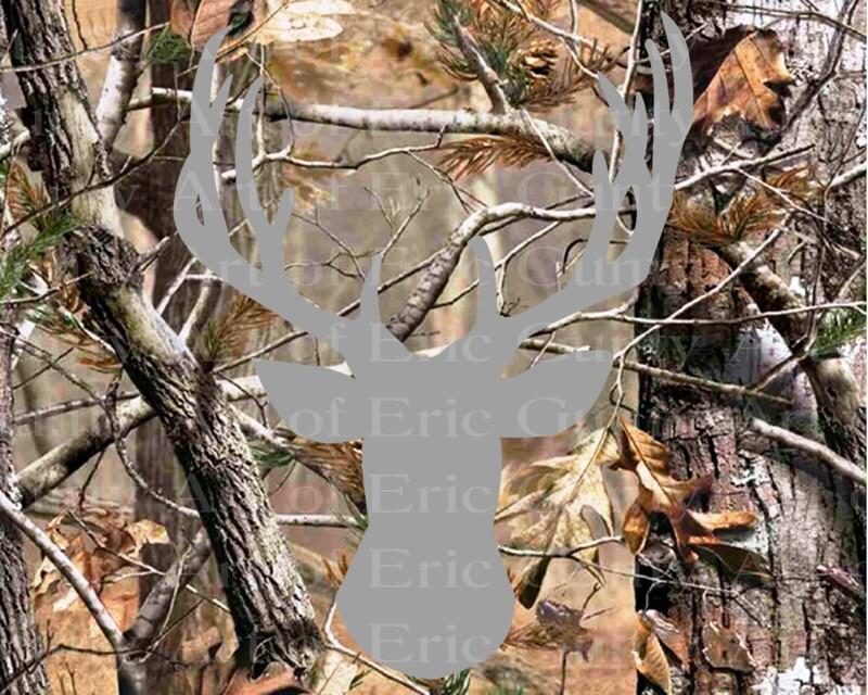 Awe Inspiring Deer Hunting Camo Birthday Frosting Sheet Cake Topper Edible Funny Birthday Cards Online Elaedamsfinfo