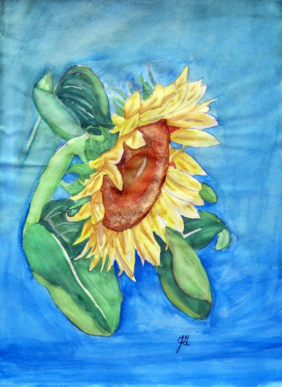Sunflower - Eric Gunty ~ Edible 2D Fondant Birthday Cake/Cupcake Topper ~ D5401