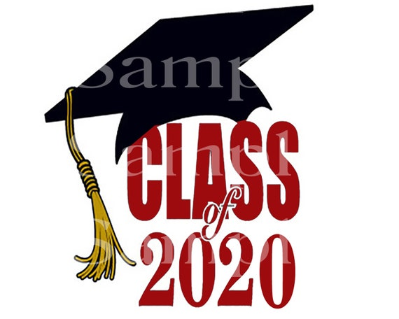 Class of 2020 Maroon Graduation Party  ~ Edible 2D Fondant Birthday Cake/Cupcake Topper ~ D24561