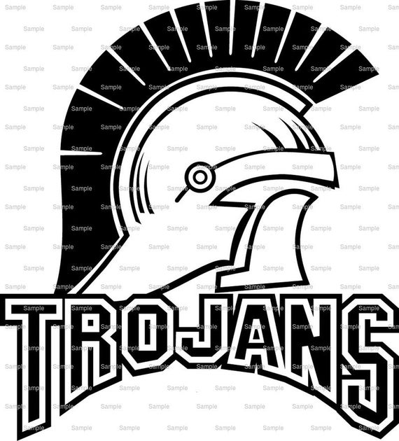 Trojans Mascot Birthday - Edible Cake and Cupcake Topper For Birthday's and Parties! - D962