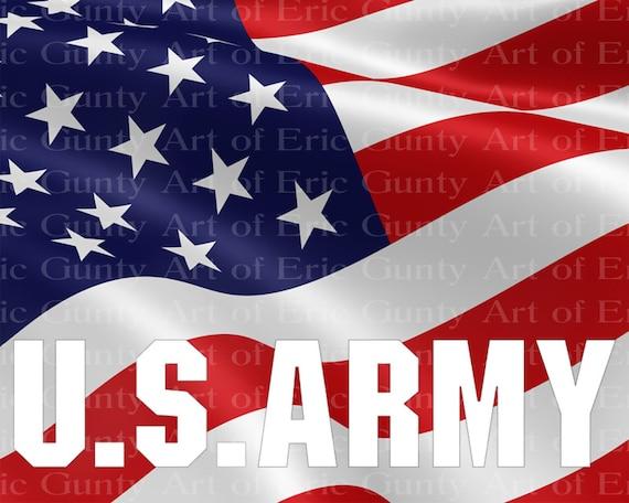 U.S. Army American Birthday ~ Edible 2D Fondant Birthday Cake/Cupcake Topper ~ D21911