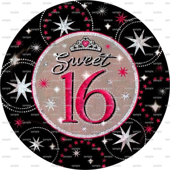 Sweet 16 Birthday Cupcake ~ Edible 2D Fondant Birthday Cake/Cupcake Topper ~ D5958