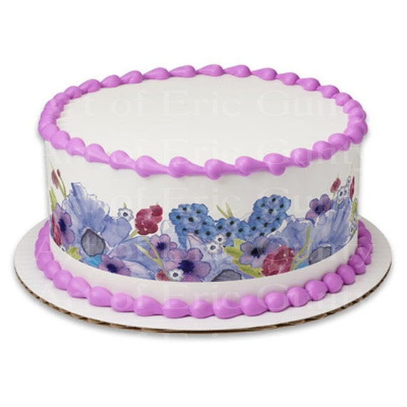 Pastel Easter Flowers - Side Strips - Edible Cake Side Toppers- Decorate The Sides of Your Cake! - D22047