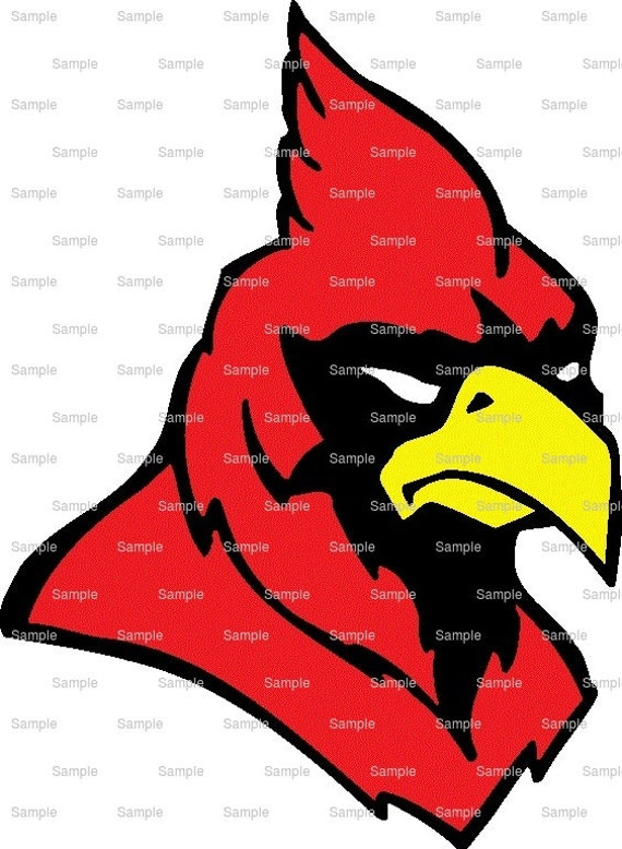 Cardinals Mascot Birthday ~ Edible 2D Fondant Birthday Cake/Cupcake Topper ~ D923