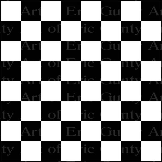 Checkerboard  - Edible Cake and Cupcake Topper For Birthday's and Parties! - D22564