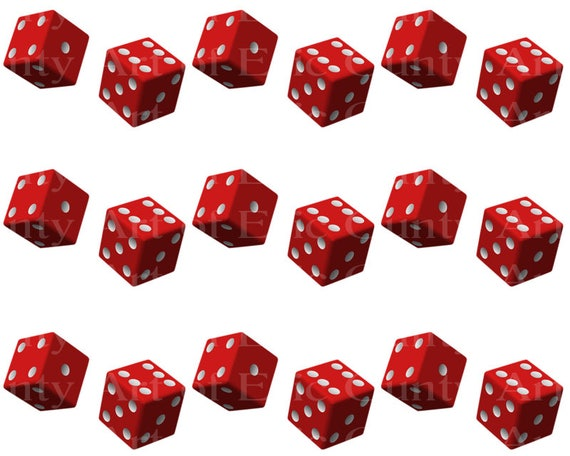 Casino Las Vegas Dice - Edible Cake Side Toppers- Decorate The Sides of Your Cake! - D23000